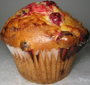 Watch your oven temperature if you want nicely peaked muffins.