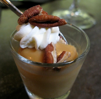 Butterscotch pudding.  For the toothless, omit nuts.