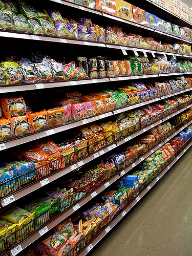 As far as I was concerned, the grocery store only had one aisle.