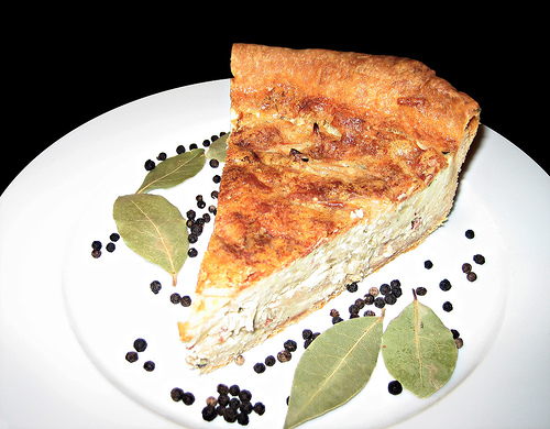Look--it's Thoma Keller's Quiche Lorraine!  Isn't it lovely?