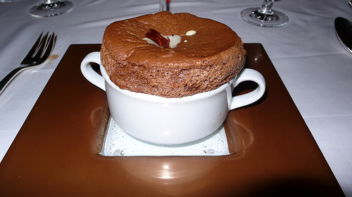 A lovely chocolate souffle, or Will Smith in the his Fresh Prince Days, depending on how you look at it.