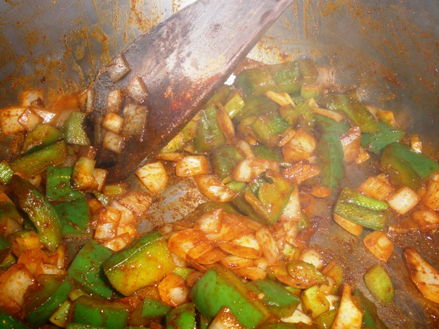 Cook until the spices are fragrant.