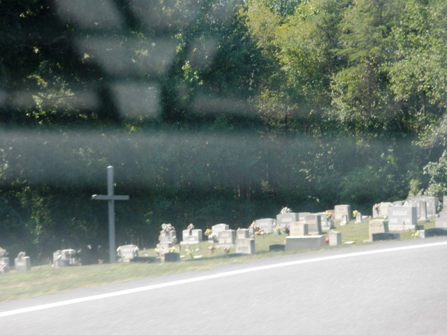 Okay, maybe a cemetary isn't so much amusing, but we saw a Very Lot of cemetaries.  This one is representative of the rest.