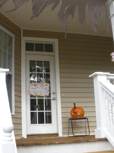 halloween side door