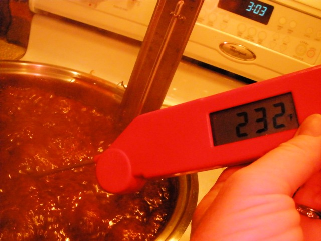cooking fudge to the right temperature