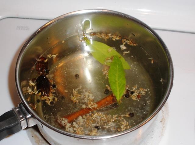 steeping savory aroma water